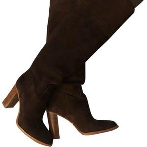 MICHAEL KORS Brown Suede Tall Boots / NEW